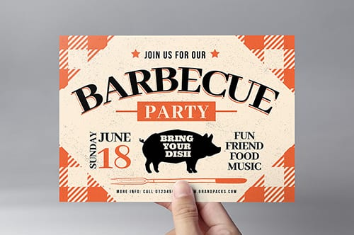Rustic Barbecue Flyer Template