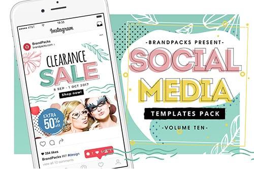 Spring Sale Social Media Templates