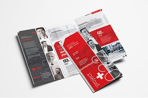 Swiss Style Tri-Fold Brochure Template