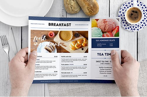 Brunch Cafe Tri-Fold Menu Template