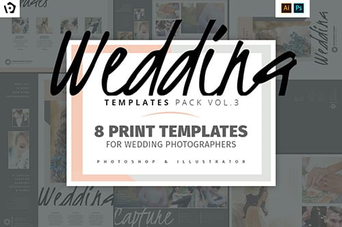 Wedding Photographer Templates Pack Vol.3