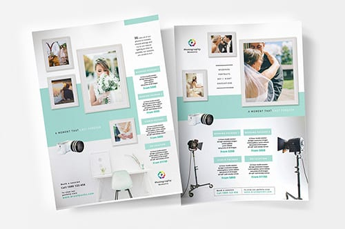 Wedding Photographer Poster Templates