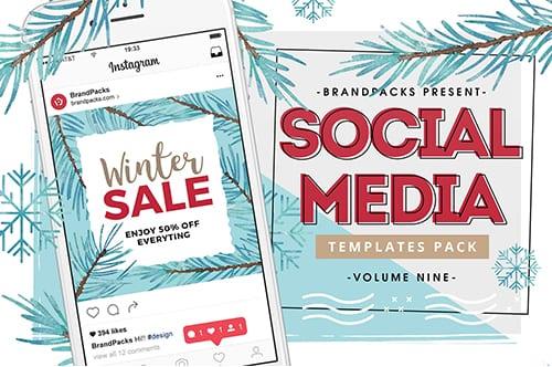 Winter/Christmas Sale Instagram Graphics