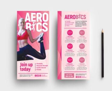 Free Aerobics/Yoga DL Card Templates