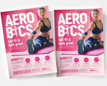 Free Aerobics/Yoga Poster/Flyer Template