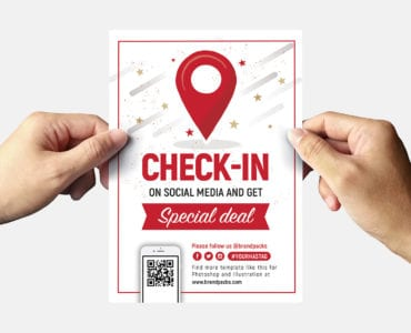 Free check-In Flyer Template Back