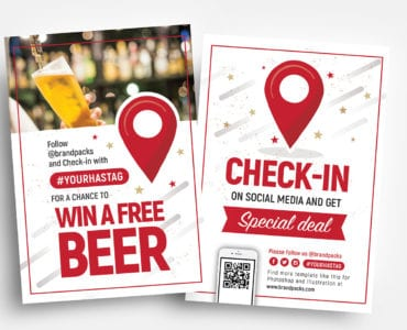 Free check-In Flyer Template in PSD & Vector