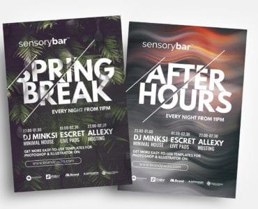 Free Nightclub Flyer Templates in PSD & Vector