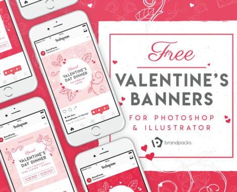 Free Valentine's Day Instagram Banner Templates
