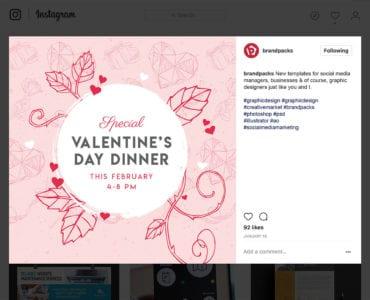 Free Valentine's Day Instagram Banner Template