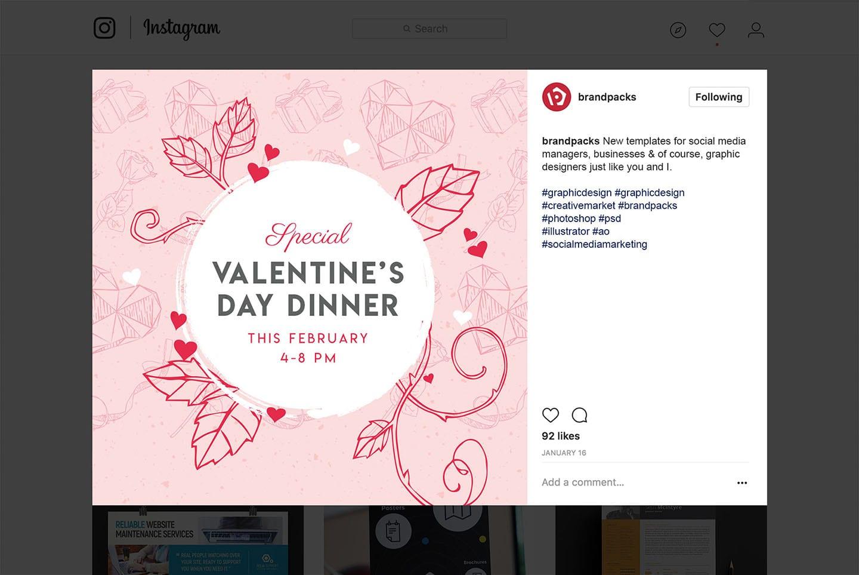 Free Valentine S Day Instagram Banner Template