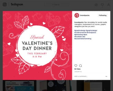 Free Valentine's Day Social Media Templates