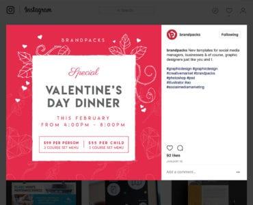Free Valentine's Day Social Media Templates