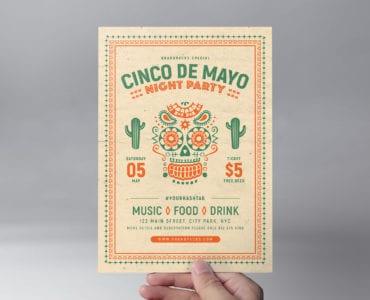 Free Cinco De Mayo Flyer Template (front)