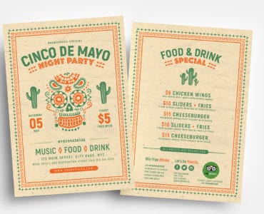 Free Cinco De Mayo Flyer Templates