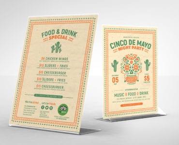 Free Cinco De Mayo Table Top Menu Templates