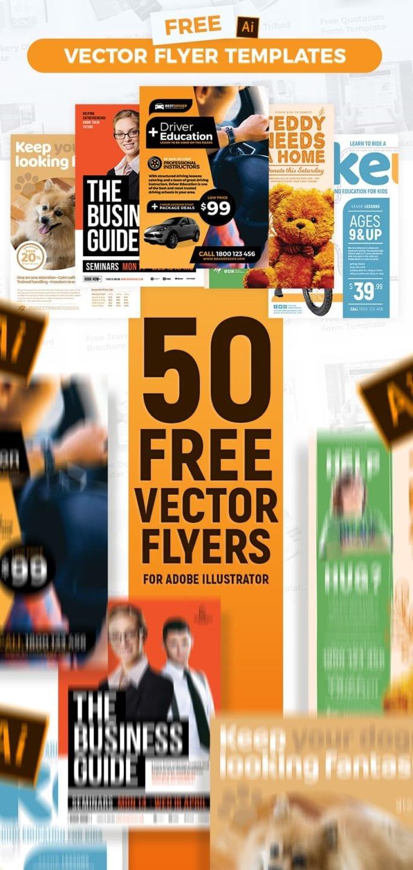 50+ Free Vector Flyer Templates