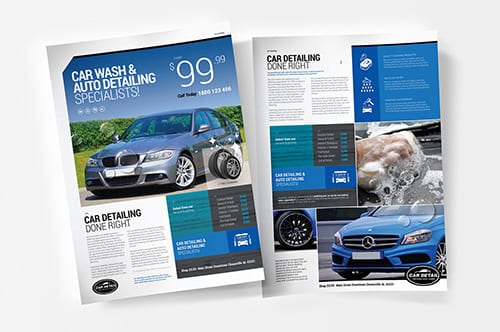 A4 Car Detailing Poster/Advertisement Templates