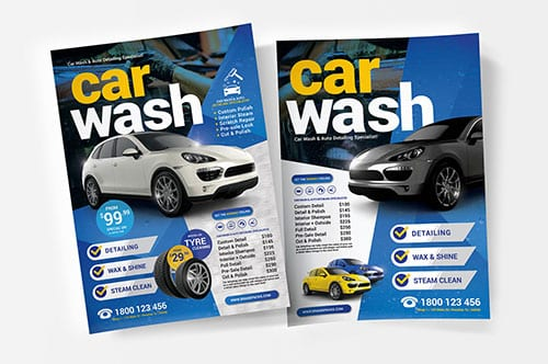A4 Car Wash Poster Templates v2