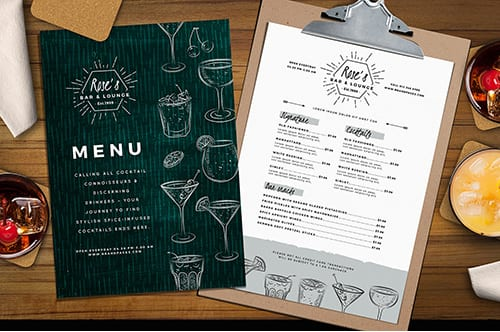 Cocktail Menu Template Vol.1