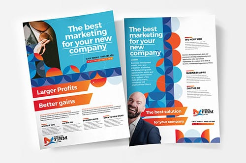 A4 Modern Corporate Poster Templates