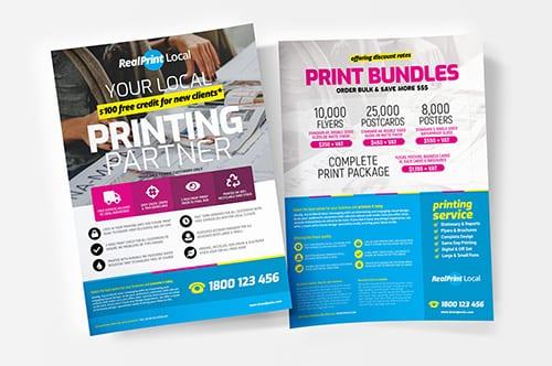 A4 Print Shop Poster Template