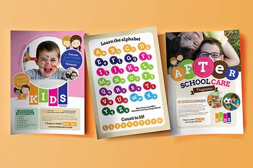 After School Care Poster Templates