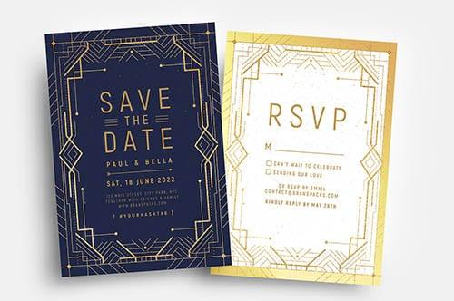 Art Deco Invitation Templates
