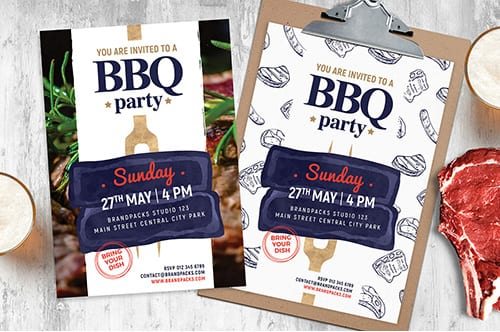 BBQ Flyer / Poster Templates