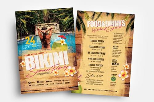 Bikini Party Flyer Templates