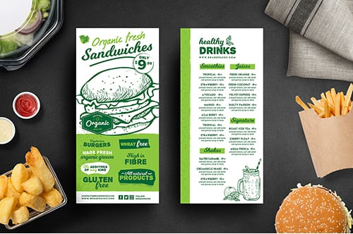 DL Burger Menu Template
