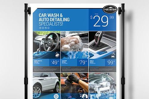Car Detailing Poster Template