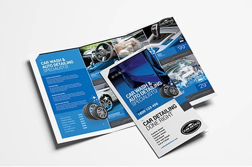 Car Detailing Trifold Brochure