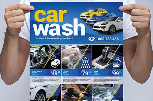 A3 Car Wash Poster Template