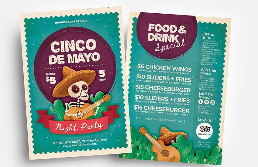Cinco de Mayo Flyer Templates