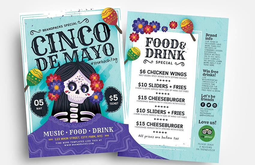 Cinco de Mayo Flyer Templates Vol.3