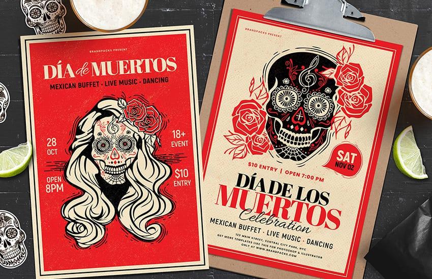 Dia De Los Muertos Poster Templates