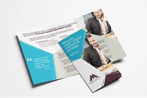 Digital Marketing Trifold Brochure Template