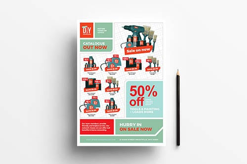 DIY Tool Supply Advertisement Template