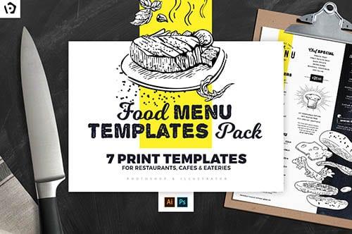 Food Menu Templates Pack