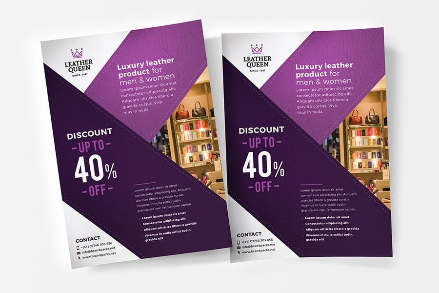 Free A4 Shop Flyer Template Vector