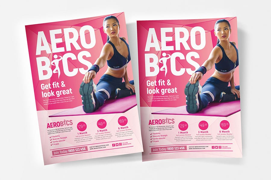 Free Aerobic Poster Template
