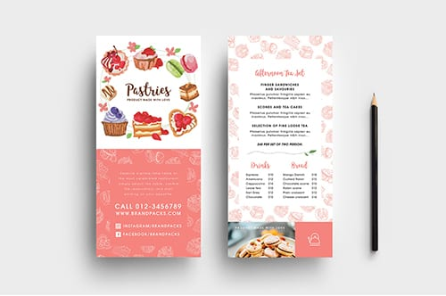 Free Bakery DL Card Template