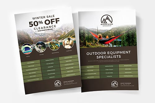 Free Camping Poster Template
