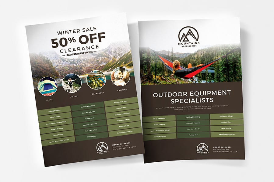 Free Camping Flyer Template Vector