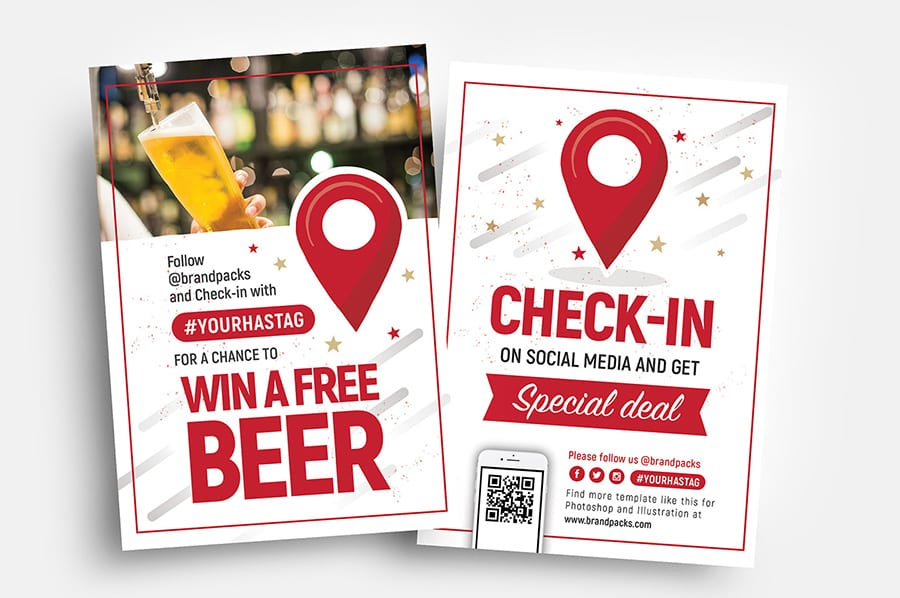 Free Check-In Flyer Template