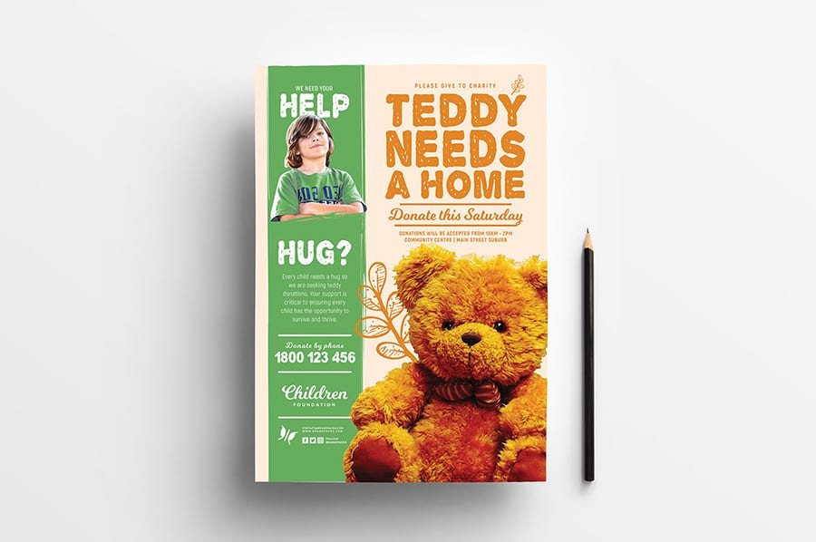 Free Children's Charity Flyer Template
