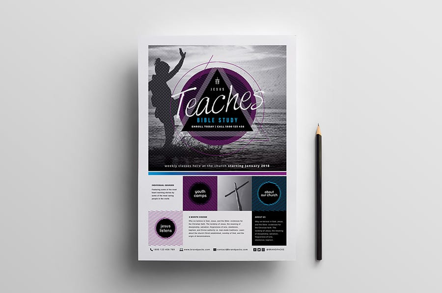 Free Church Event Flyer Template Vector