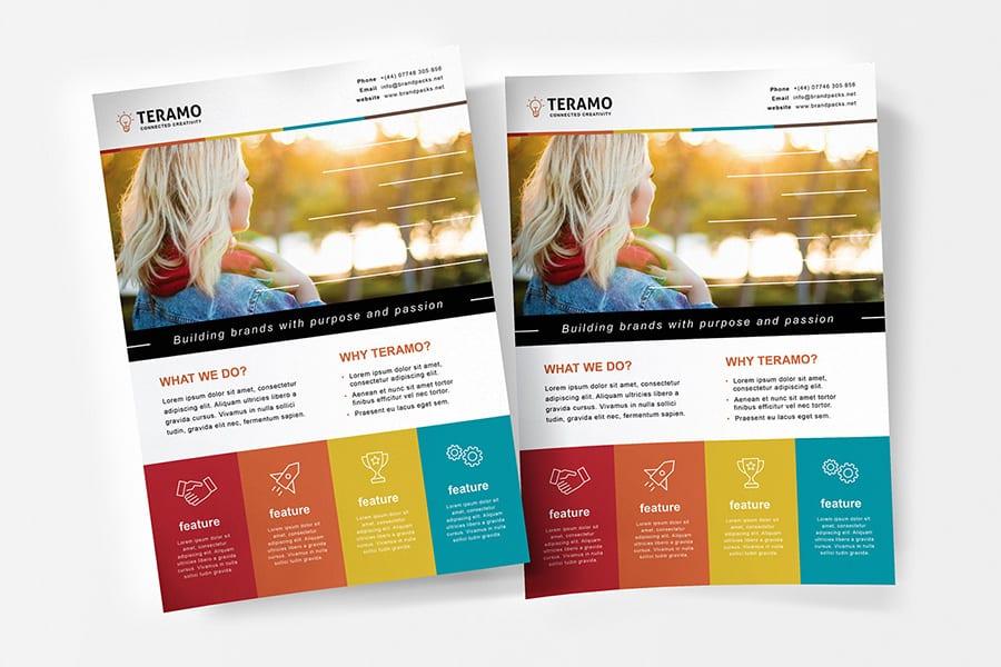 Free Creative Flyer Template Vector