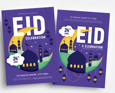 Free Eid Flyer Templates in PSD & Vector